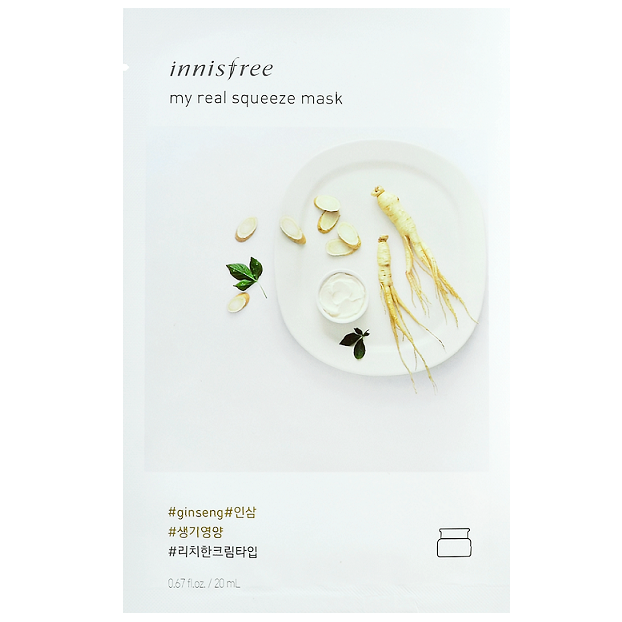 INNISFREE My Real Squeeze Mask - Ginseng | Shop Korean Skincare at ShopChuusi