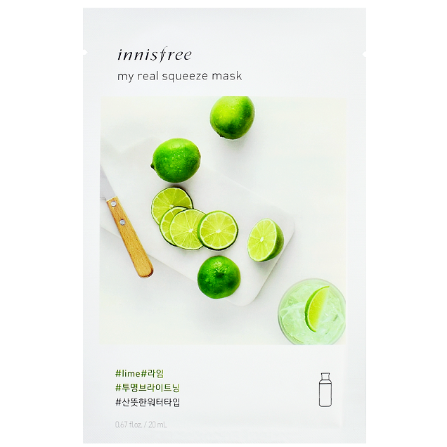 INNISFREE My Real Squeeze Mask - Lime | Shop Korean Skincare at ShopChuusi