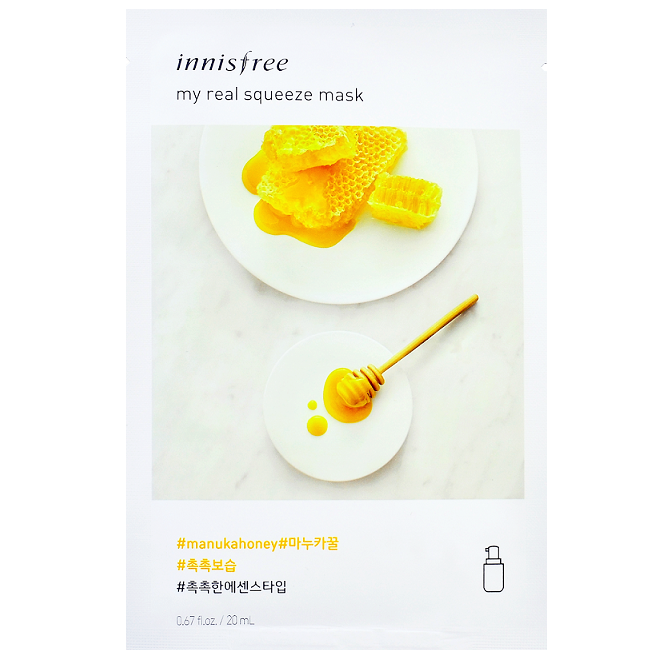 INNISFREE My Real Squeeze Mask - Manuka Honey | Shop Korean Skincare at ShopChuusi