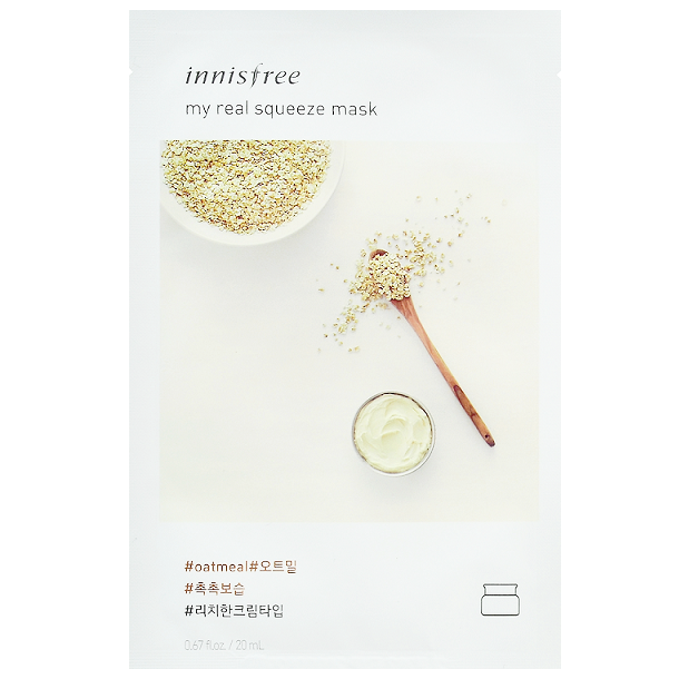 INNISFREE My Real Squeeze Mask - Oatmeal | Shop Korean Skincare at ShopChuusi