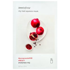 INNISFREE My Real Squeeze Mask - Pomegranate | Shop Korean Skincare at ShopChuusi