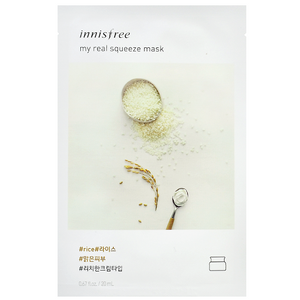 INNISFREE My Real Squeeze Mask - Rice | Shop Korean Skincare at ShopChuusi