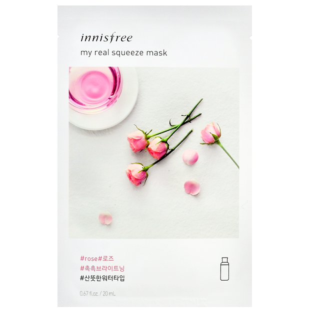 INNISFREE My Real Squeeze Mask - Rose | Shop Korean Skincare at ShopChuusi
