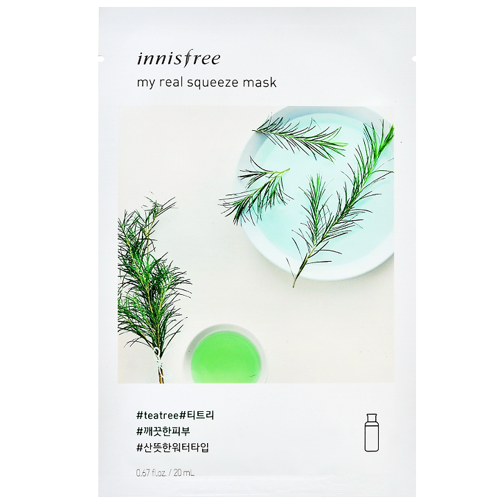 INNISFREE My Real Squeeze Mask - Tea Tree | Shop Korean Skincare at ShopChuusi