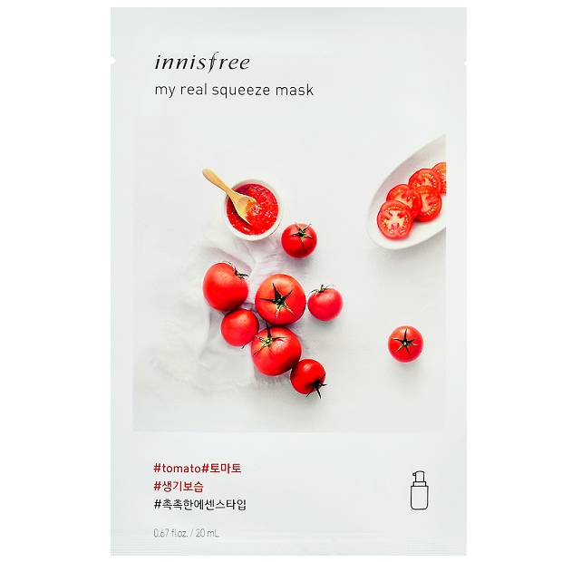INNISFREE My Real Squeeze Mask - Tomato | Shop Korean Skincare at ShopChuusi