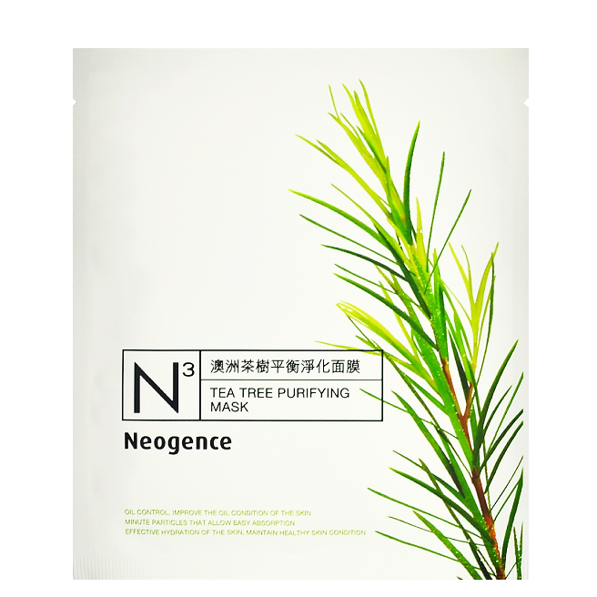 NEOGENCE N3 Tea Tree Purifying Mask | Shop Taiwanese Sheet Mask at ShopChuusi