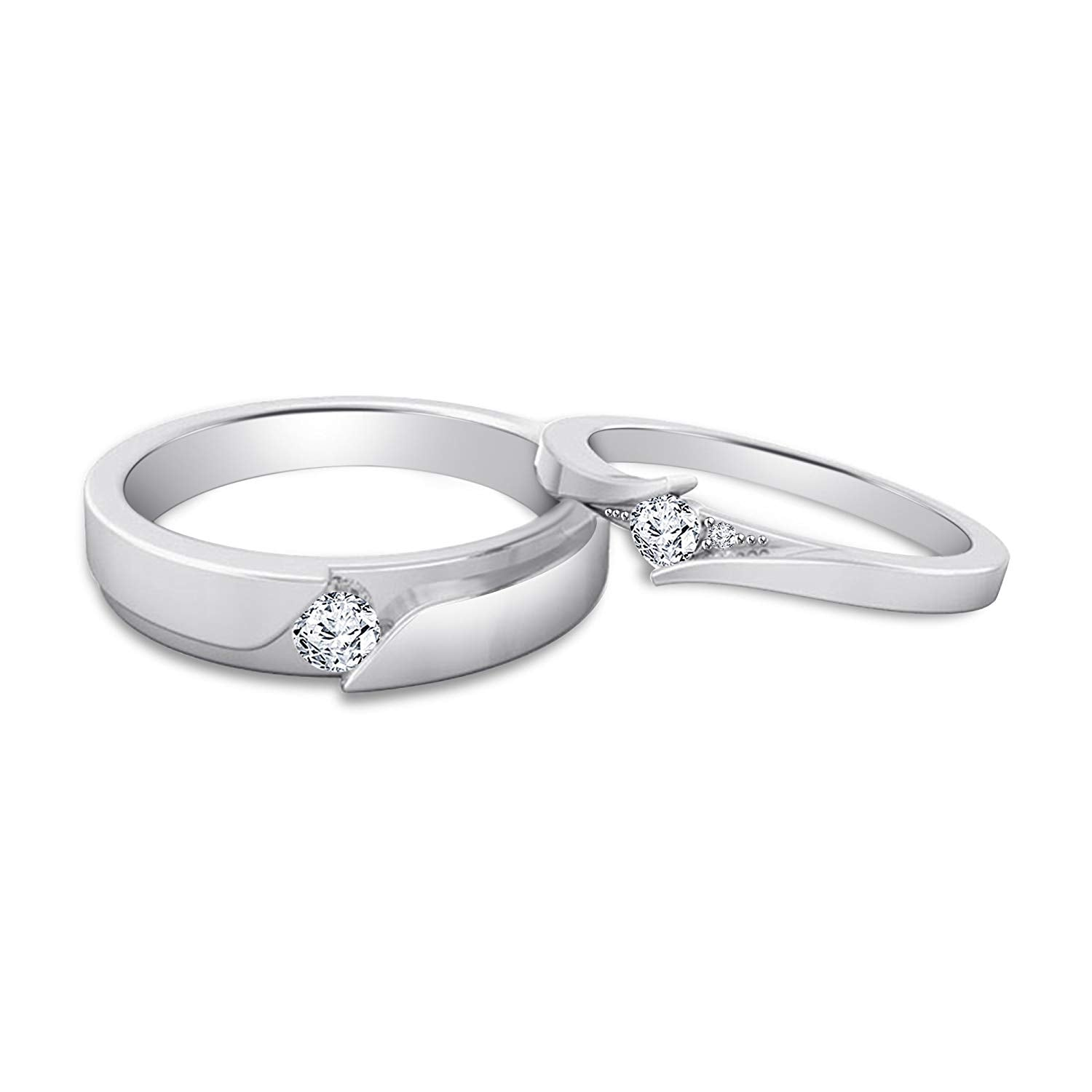921e3ea10b ... 925 Sterling Silver Elegant Couple Heart Ring. Size Charts. Ring Size