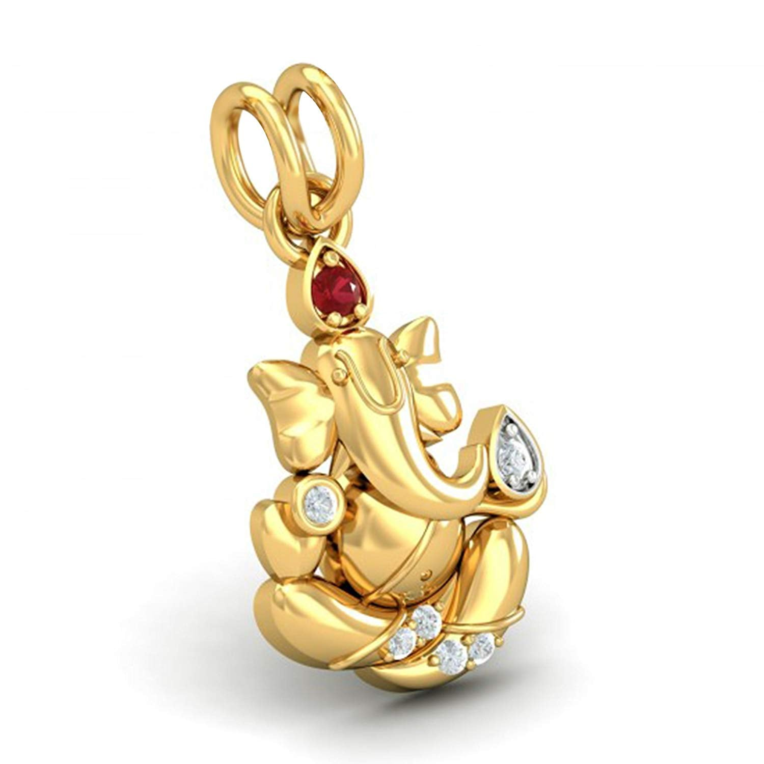 104e341db atjewels Special Ganesh 18K Yellow Gold Plated on 925 Sterling ...