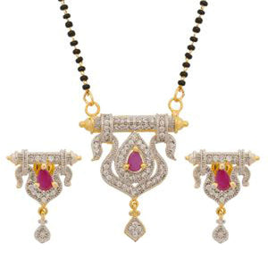 Dangle Pear Silver Gold Filled Pendant Round Ruby Women Lady Necklace Jewelry