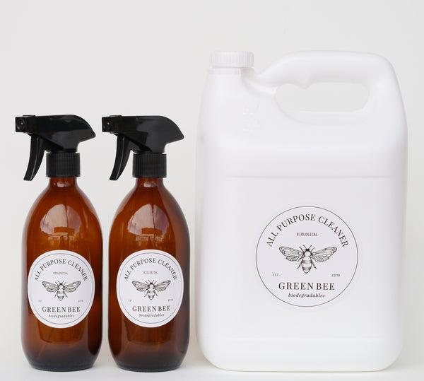 All-purpose microbial cleaner - 5 litres plus glass spray bottles