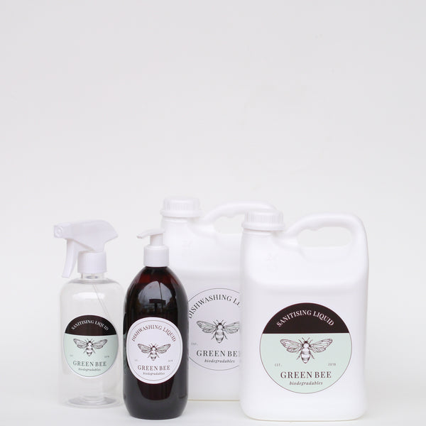 Mini Pack - Hand & Body Wash // Sanitising Liquid - Plastic