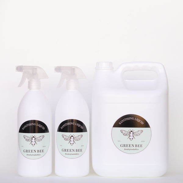 Sanitising Liquid - Anti-viral - 7 litres including two 1 litre spray bottles