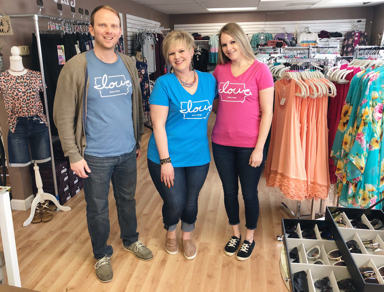 """Iowa love"" finds more love in Cedar Falls with Beautiful Mess Boutique"