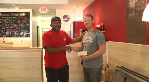 """Iowa love"" Donations to ""Rodney's Kitchen for Kids"""