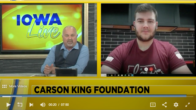 Carson King on Iowa Live