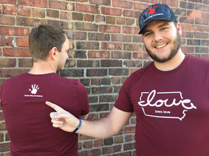 "Limited Edition: Carson King Foundation ""Iowa love"" T-Shirt Fundraiser"