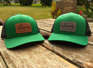 """Iowa love"" Irish Green Trucker Cap"