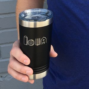 """Iowa love"" ""For Our Farms"" Pint Tumbler"