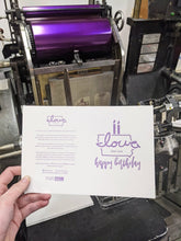 "Load image into Gallery viewer, Letterpress Printed ""Iowa love"" Birthday Cards"
