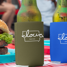 "Load image into Gallery viewer, ""Iowa love"" Neoprene Can Cooler"
