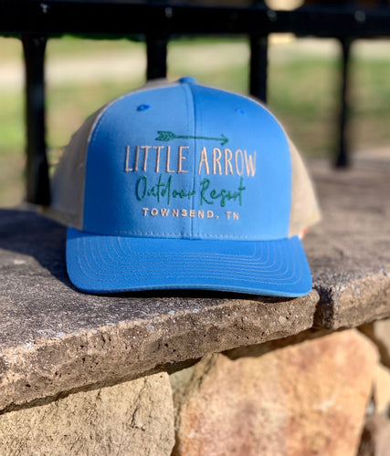 Little Arrow Hat - Blue & White