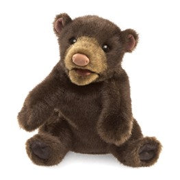Small Black Bear Puppet