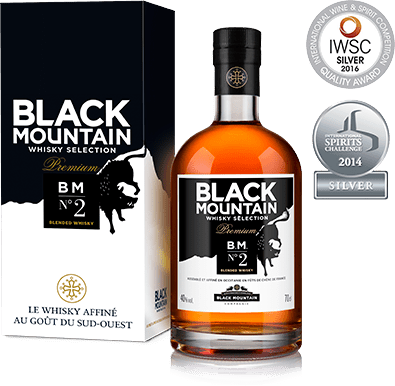 "Black Mountain <br> ""BM N°2"" <br> Premium<br> Whisky"