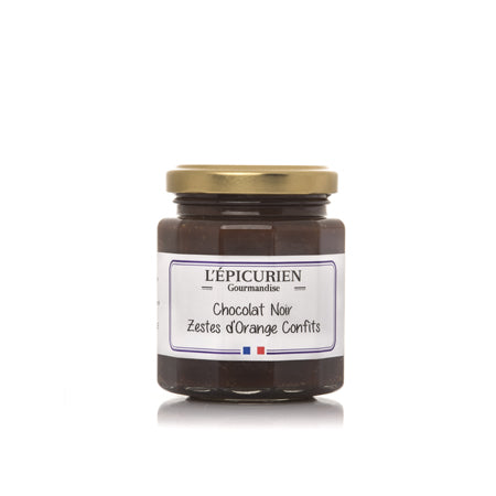 L'Epicurien<br>Pâte à tartiner<br>Chocolat Noir Zestes d'Orange Confits