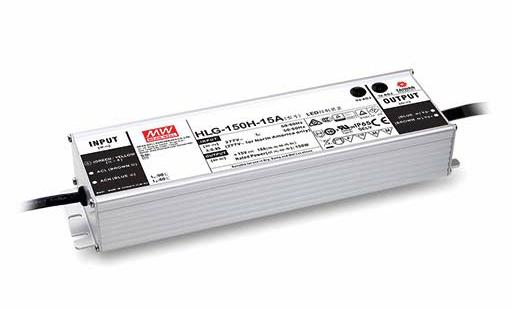 Mean Well HLG-150 Dış Mekan - Metal Kasa 150W - 24V Sabit Voltaj LED Sürücü
