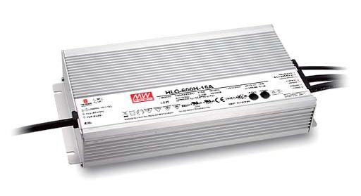 Mean Well HLG-600 Dış Mekan - Metal Kasa 600W - 24V Sabit Voltaj LED Sürücü