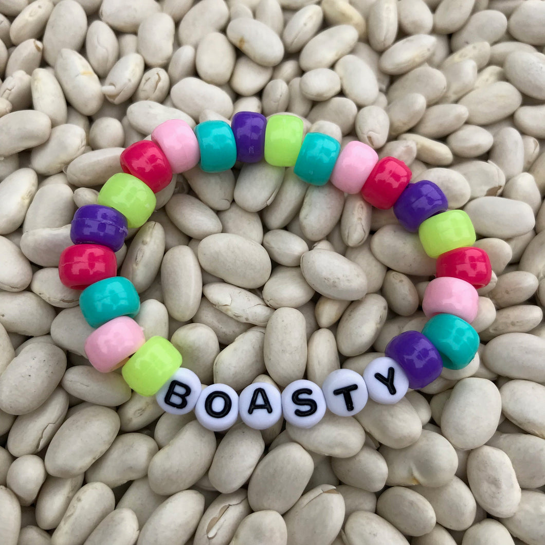Stackable stretch word bracelets - Boasty