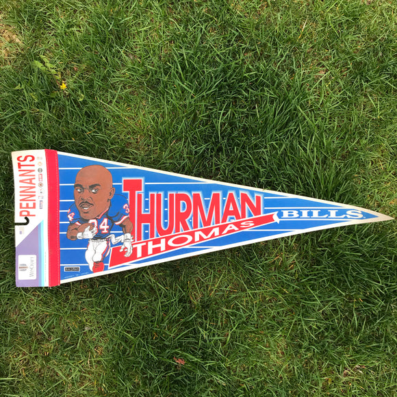 Vintage Buffalo Bills Thurman Thomas Pennant