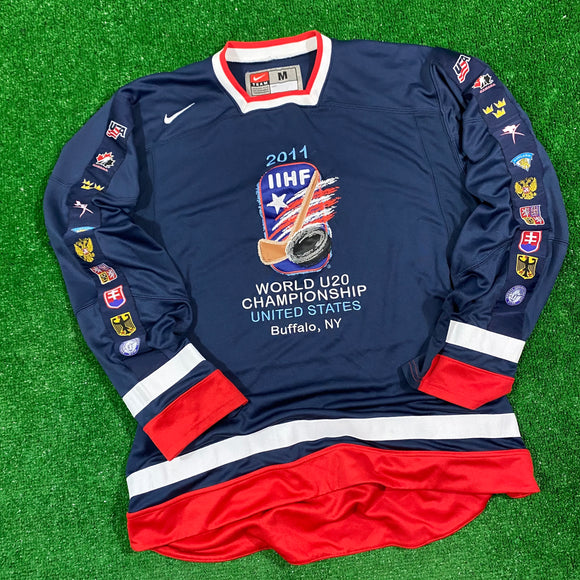2011 Buffalo World Juniors Nike Jersey Size M
