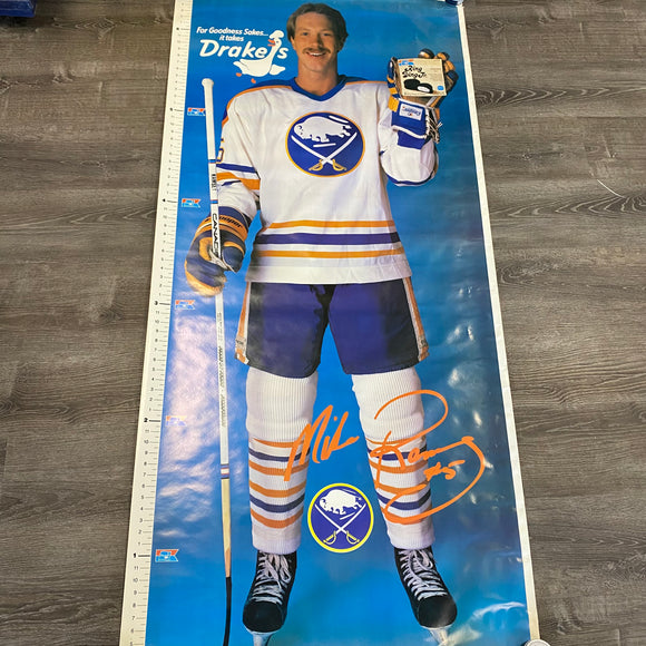 Vintage Buffalo Sabres Mike Ramsey Life Size Poster 6'