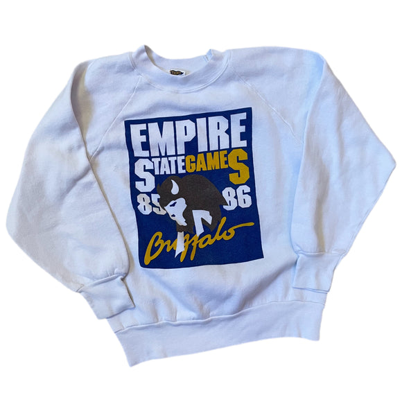 Vintage Buffalo 85-86 Empire State Games Crewneck Size S