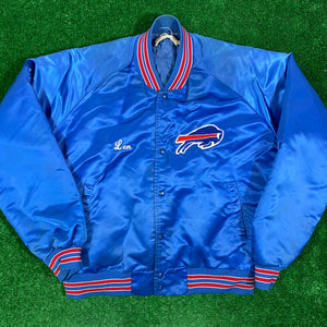 Vintage Buffalo Bills Len Satin Jacket Size XL