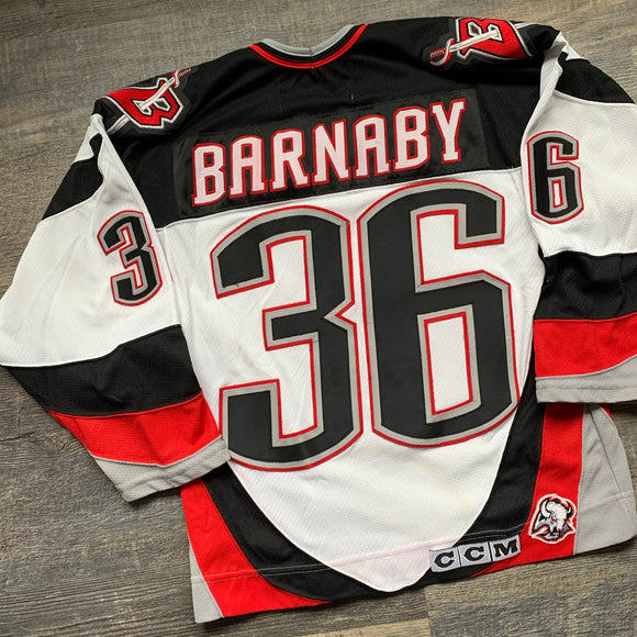 Vintage Buffalo Sabres Matthew Barnaby CCM Jersey Size S