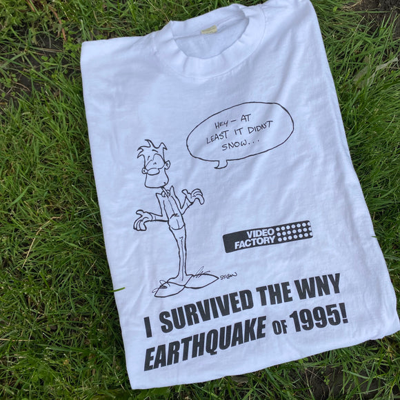 Vintage Buffalo 1995 Earthquake Tee Size XL