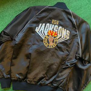 Vintage Jackson 5 World Tour Satin Jacket Size Small