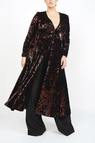Deep wine Plus size party Robe designer evening clothes