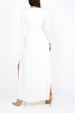 Anne White Wrap Gown - Maer World