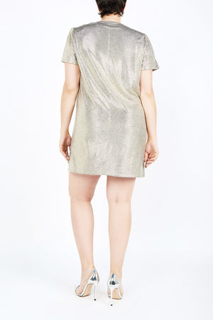 Esha Silver Mini Dress - Maer World