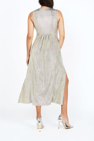 Maria Silver Midi Dress - Maer World