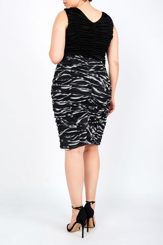 Lily Zebra Printed Mesh Pencil Skirt - Maer World