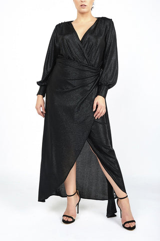 Carrie Black Evening Sarong