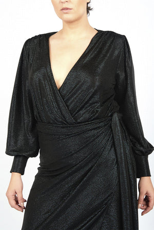 Black Bodysuit Plus size party dress designer evening clothes