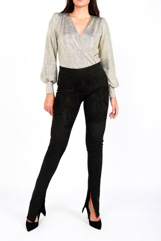 Gaby Black Suede Pant - Maer World