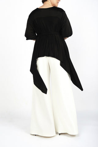 Ana Black Wrap Tunic - Maer World