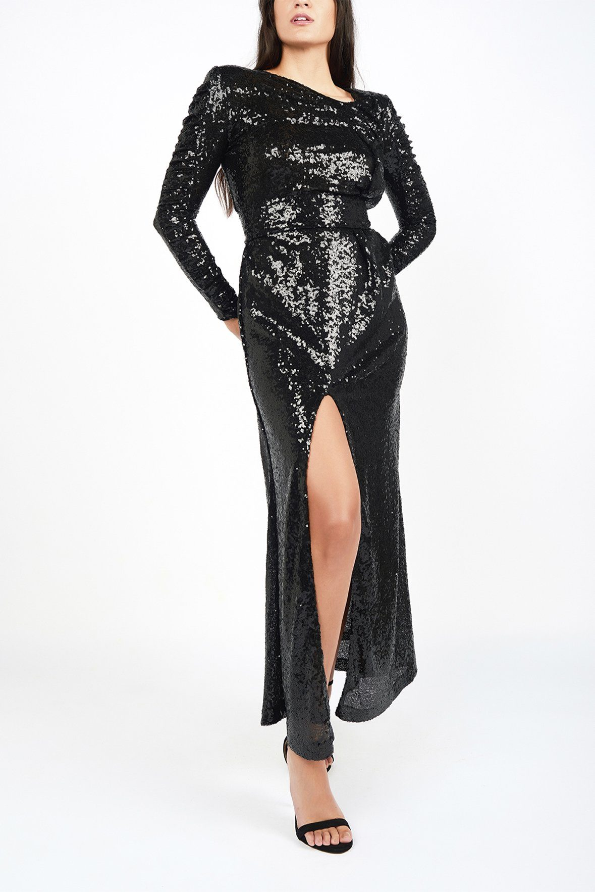 Maureen Black Sequin Gown - Maer World