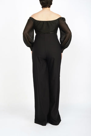 Haley Black Wide Legged High Waisted Pant - Maer World
